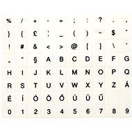 Prelepky na klávesnice, maďarské, čierne - Nálepky