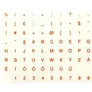 Přelepky na klávesnice, maďarské, červené - Nálepky