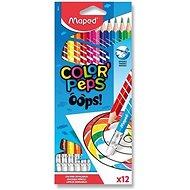 Maped Color´Peps Oops bezdrevné s gumou 12 farieb
