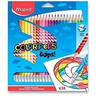 Maped Color´Peps Oops bezdrevné s gumou 24 farieb
