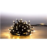 Marimex Lighting chain 100 LED 5 m - warm white - green cable - 8 functions - Christmas Lights