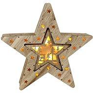 Marimex Hvězda 2v1 10+6 LED Nature
