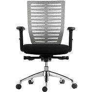 MOSH BS-401 čierno/biela - Kancelárska stolička