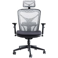 MOSH AIRFLOW-601 čierno-biela - Kancelárska stolička