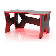 MOSH čierny s červeným LED podsvietením - Herný stôl