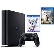 PlayStation 4 Slim 500 GB + Assassins Creed Odyssey + Just Dance 2019 - Herná konzola