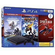 Herná konzola PlayStation 4 Slim 500 GB + 3 hry (Spiderman, Horizon Zero Dawn, Ratchet and Clank)