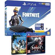 PlayStation 4 Slim 500GB + Fortnite + Nioh + Horizon Zero Dawn - Herná konzola