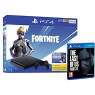 PlayStation 4 Slim 500GB + Fortnite + The Last Of Us Part II - Herná konzola