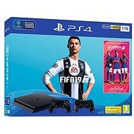 PlayStation 4 1 TB Slim + FIFA 19 + extra DualShock 4 - Herná konzola