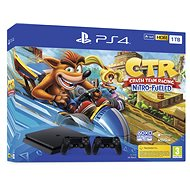 PlayStation 4 Slim 1 TB + Crash Team Racing + 2× ovládač - Herná konzola