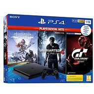 PlayStation 4 Slim 1 TB + 3 hry (GT Sport, Uncharted 4, Horizon Zero Dawn) - Herná konzola