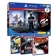PlayStation 4 Slim 1TB + 6 hier (GTS, Uncharted 4, Horizon Zero Dawn, GOW III, Gravity Rush 2, Nioh)