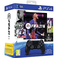 Sony PS4 Dualshock 4 V2 – Black + FIFA 21 - Gamepad