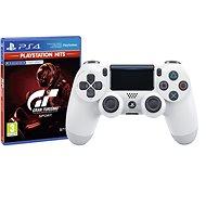 Sony PS4 Dualshock 4 V2 – Glacier White + Gran Turismo Sport