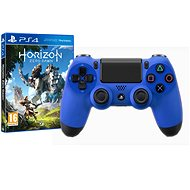 Sony PS4 Dualshock 4 V2 – Wave Blue + Horizon: Zero Dawn - Gamepad