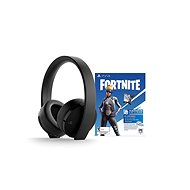 Sony PS4 Gold Wireless Headset Black + Fortnite - Herné slúchadlá