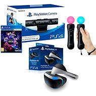 PlayStation VR pre PS4 + hra VR Worlds + PS4 kamera + PS MOVE Twin Pack - Okuliare na virtuálnu realitu