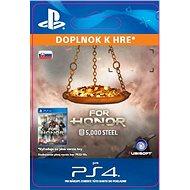 FOR HONOR 5 000 STEEL Credits Pack  - PS4 SK Digital - Herní doplněk