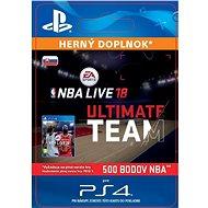NBA Live 18 Ultimate Team - 500 NBA points - PS4 SK Digital - Herní doplněk
