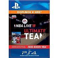NBA Live 18 Ultimate Team - 2800 NBA points - PS4 SK Digital - Herní doplněk