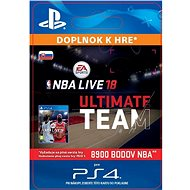 NBA Live 18 Ultimate Team, 8900 NBA points – PS4 SK Digital - Herný doplnok