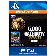 5,000 Call of Duty: WWII Points – PS4 SK Digital - Herný doplnok