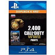 2,400 Call of Duty: WWII Points – PS4 SK Digital - Herný doplnok