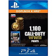 1,100 Call of Duty: WWII Points - PS4 SK Digital - Herní doplněk