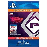 NFS Payback 1050 Speed Points - PS4 SK Digital - Herní doplněk