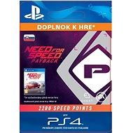 NFS Payback 2200 Speed Points  - PS4 SK Digital - Herní doplněk