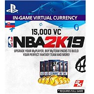 15,000 VC NBA 2K19 - PS4 SK Digital - Herní doplněk