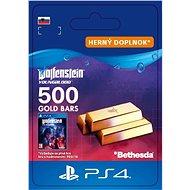 Wolfenstein: Youngblood – 500 Gold Bars – PS4 SK Digital - Herný doplnok