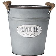 M. A. T. decorative pot 26x26cm with galvanized rope