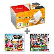 Nintendo NEW 2DS XL White & Orange + Kirby Battle Royale + Mario & Luigi: Superstar Saga - Herná konzola