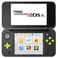 Nintendo NEW 2DS XL Black & Lime Green + Mario Kart 7 - Herná konzola