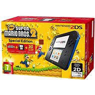 Nintendo 2DS Black & Blue + New Super Mario Bros. 2 - Herná konzola