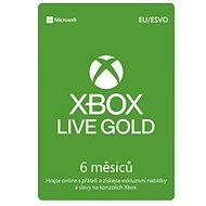 Xbox Live Gold - 6 měsíční členství - Dobíjecí karta
