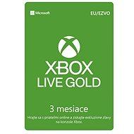 Xbox Live Gold, 3-mesačné členstvo - Dobíjacia karta