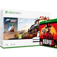 Xbox One S 1 TB + Forza Horizon 4 + Red Dead Redemption 2 - Herná konzola