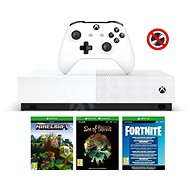Xbox One S 1TB All-Digital + 3 hry (Fortnite, Minecraft, Sea of Thieves) - Herná konzola