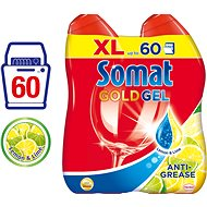 SOMAT Gold Gel AntiGrease 2 x 600 ml Lemon - Gél do umývačky