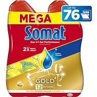 SOMAT Gold Grease Cutting Lemon & Lime 2× 684 ml - Gél do umývačky