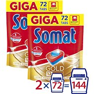 SOMAT Gold 2× 72 ks - Tablety do umývačky