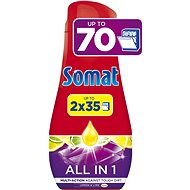 Somat All in One Lemon 2× 630 ml (70 dávok) - Gél do umývačky