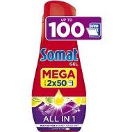 Somat All in One Lemon 2× 900 ml (100 dávok) - Gél do umývačky riadu