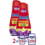 SOMAT All in One Lemon 4× 900 ml (200 dávok) - Gél do umývačky