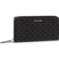 CALVIN KLEIN Logo Zip-Arounf Wallet K60K6065600GJ Black Mono Mix - Peňaženka