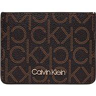 CALVIN KLEIN Logo Cardholder K60K6065610HD Brown Mono Mix - Peňaženka