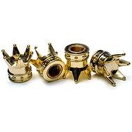 Čiapočky ventilkov zlaté korunky, 4 ks - Príslušenstvo